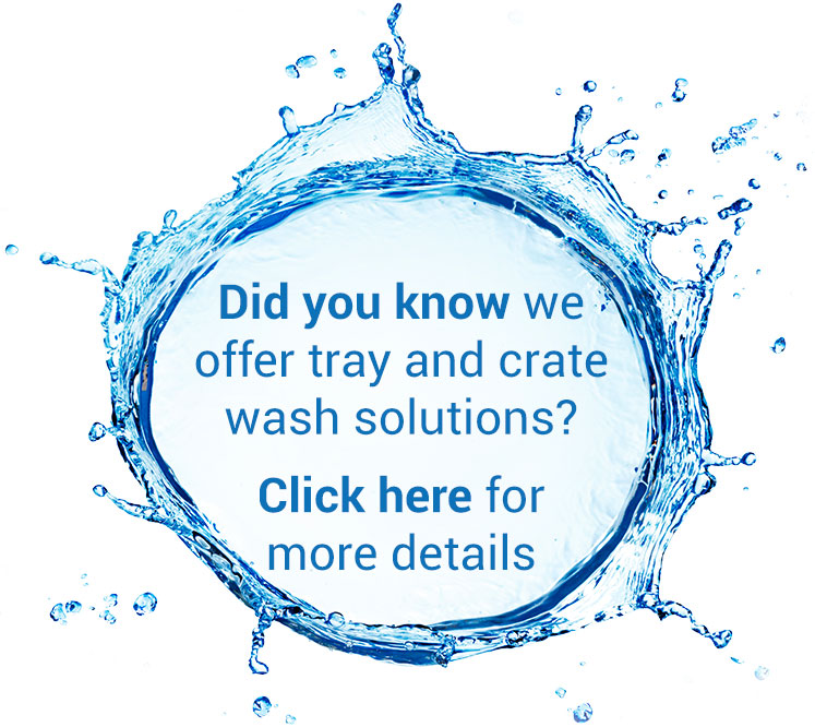 Did you know we offer tray and crate wash solutions? Click here for more details